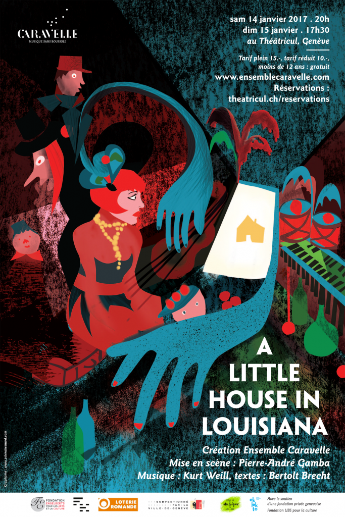 "Affiche ""A little house in Louisiana"""